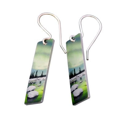 Aurora Aqua Earrings with silver hooks