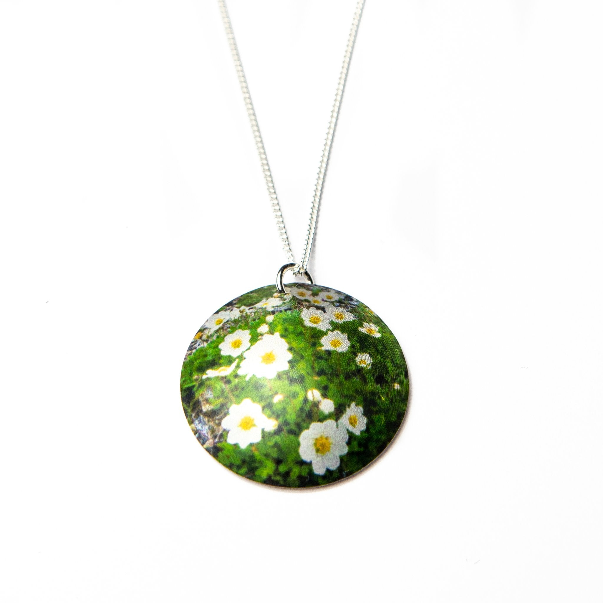 Necklace Lapland Flower Fjällsippa 16 mm Sky Northern