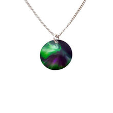 Load image into Gallery viewer, Aurora Sky Necklace with silver chain