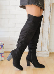 The Perfect Over-the-Knee Boot ( Black )