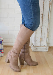The Sasha Knee-High Boot - Taupe