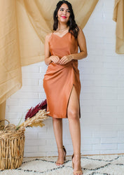 Prosecco Party Dress - Camel