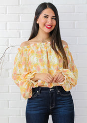 Southern Blooms Off The Shoulder Top