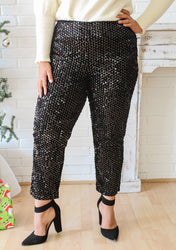 *RESTOCK* Sparkle and Shine Cropped Sequined Pants