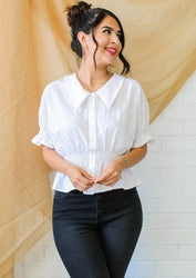The Play Date Blouse - White