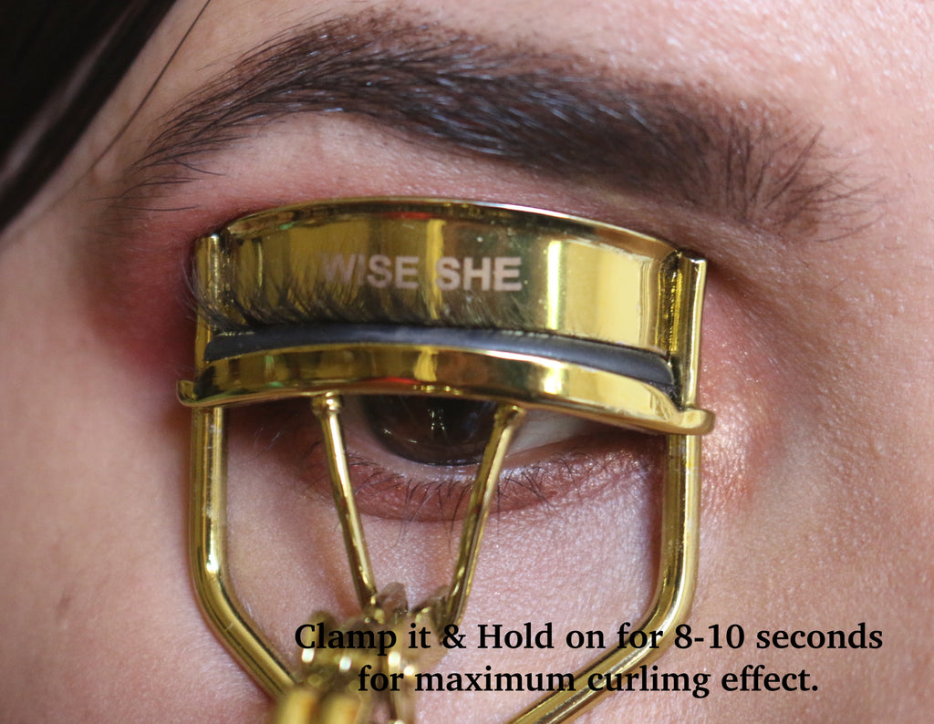 WiseShe No Pinching Dramatically Curled Lashes  Gold Eye Lash Curler | All Eye Shape For Women|