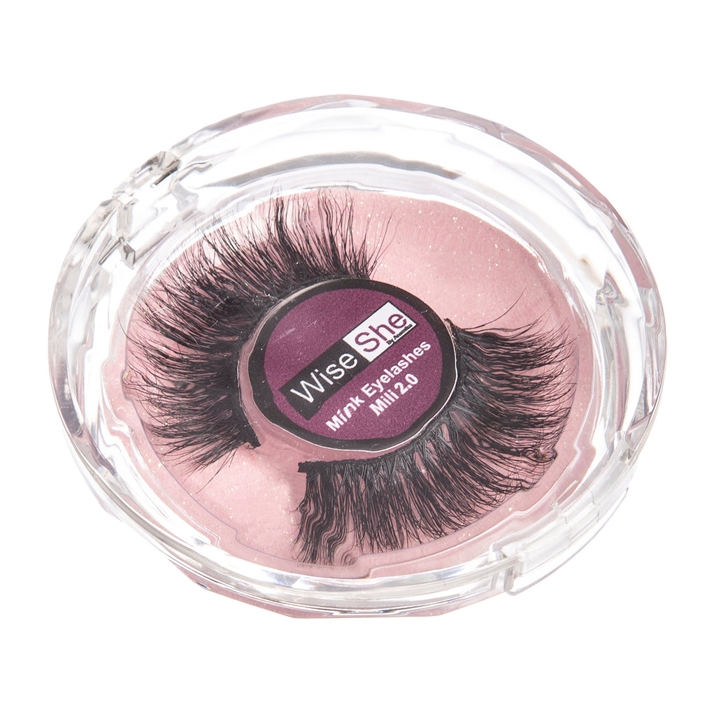 Wiseshe Milli 2.0 3D Mink eyelashes natural looking soft reusable eyelashes