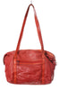 I. MAGNIN Red Leather Shoulder Bag