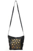 80s Black Leather Studded Bag