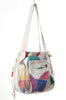 80s Colorful Rainbow Patchwork Bucket Bag