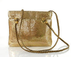 Gold Chain Mail Mesh Shoulder Bag