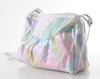 80s Pastel Patchwork Leather Shoulder Bag