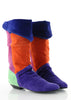 Colorblock Suede Pirate Boots 6