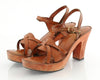 70s Qualicraft Wooden Platform Heels 10