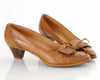 80s Leather Moccasin Tassel Heels 9.5