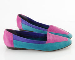80s Colorblock Leather Flats 10