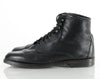90s Black Leather Lace Up Ankle Boots 7.5