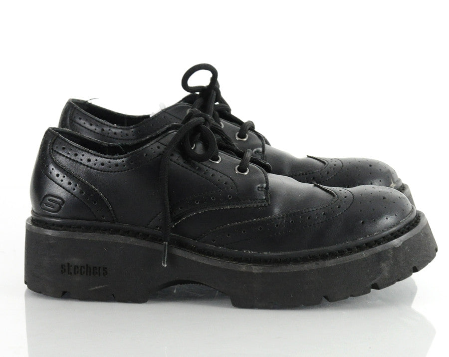 90s Sketchers Lace Up Leather Chunky Shoes 9