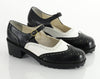 90s Wingtip Spectator Black & White Maryjanes 10