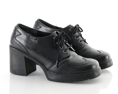 90s Lace Up Chunky Wingtip Platform Shoes 8.5