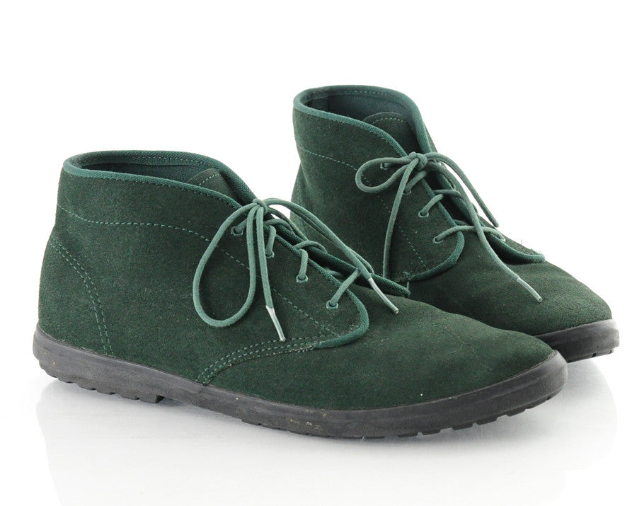 90s KEDS Green Suede Lace Up Ankles