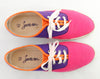 90s Lace Up Tri Tone Colorful Sneakers 7.5
