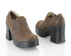 90s Brown Chunky Creeper Ankle Boots 8