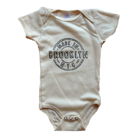 Organic Made in Brooklyn Onesie - cream