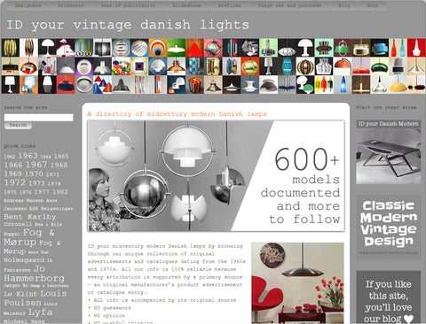 id your vintage danish lights homepage