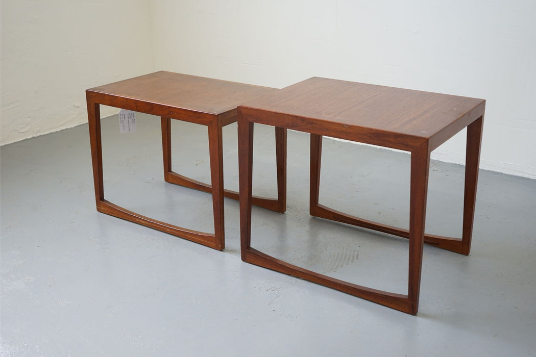 2 Danish Modern Nesting Tables Made With Teak - (312-243)