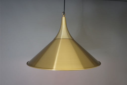Danish Mid Century Ceiling Light With Brass & Glass - (312-099.1)