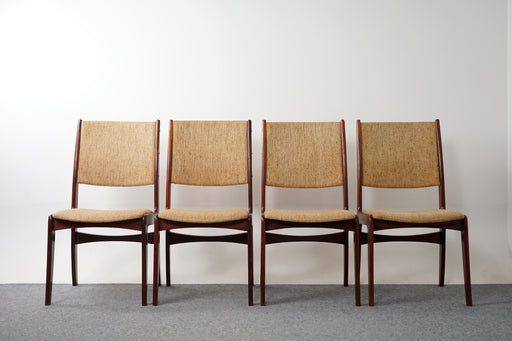 4 Mid Century Rosewood Dining Chairs - (318-043.2)