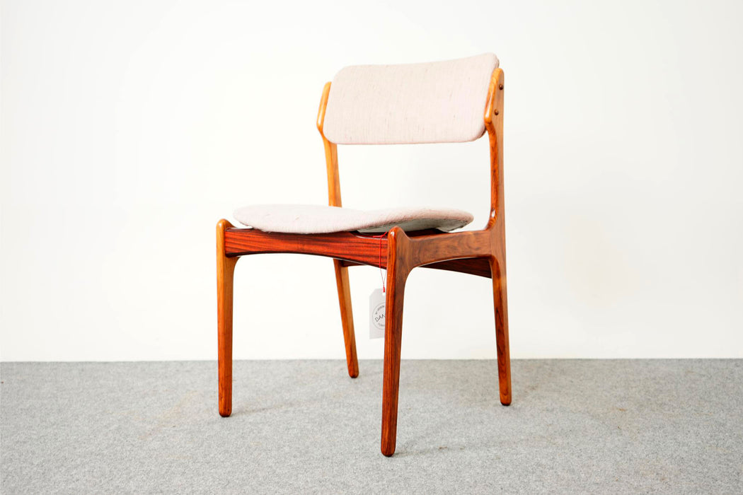 6 Danish Rosewood Dining Chairs By Erik Buch - (D678)