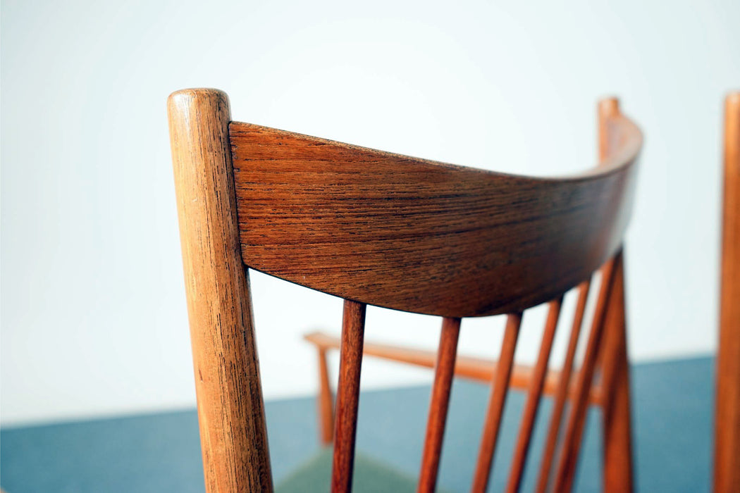 6 Mid Century Teak Model 422 Dining Chairs By Arne Vodder For Sibast - (312-101)