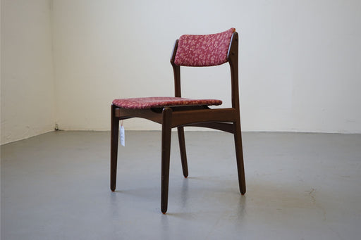 6 Danish Modern Dining Chairs Made With Teak & Fabric - (312-083)