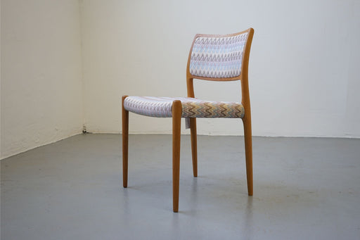 6 Danish Modern Oak Chairs By Niels Moller For J L Moller Model 80 - (D456)