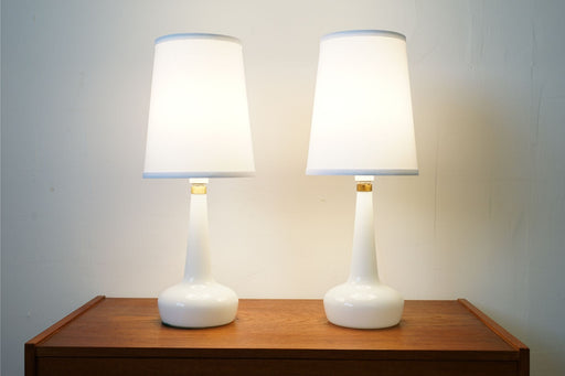 A Pair of Danish Glass Table Lamps  - (314-060.2)