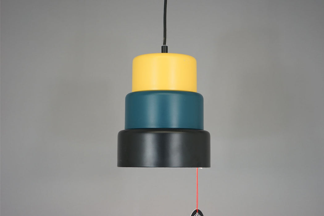 Ceiling Light With Multi Coloured Metal Shade - (312-181.2)