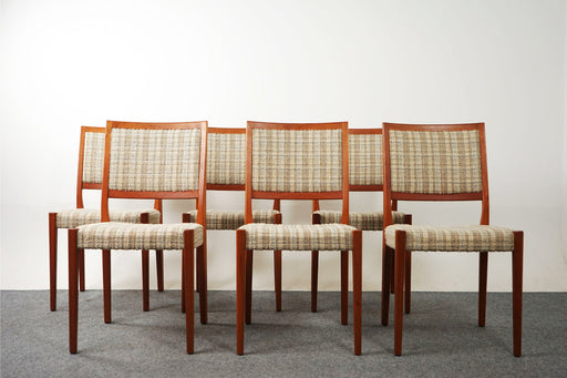 6 Swedish Teak Dining Chairs By Svegards - (D750)
