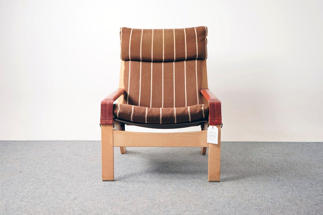 Vintage Design Reclining Lounge Chair Made With Beech - (312-196.1)