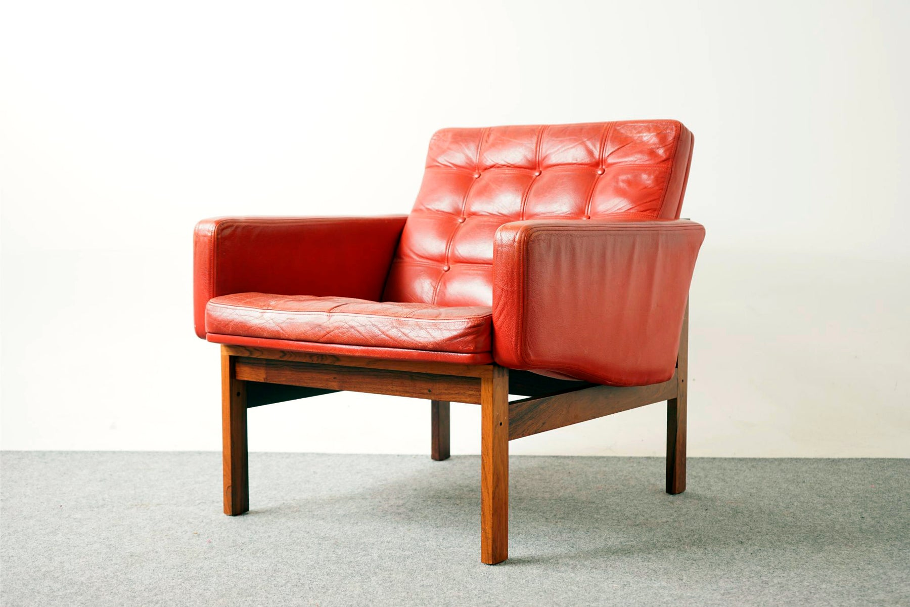 Rosewood & Leather Easy Chair By France & Son - (317-083)