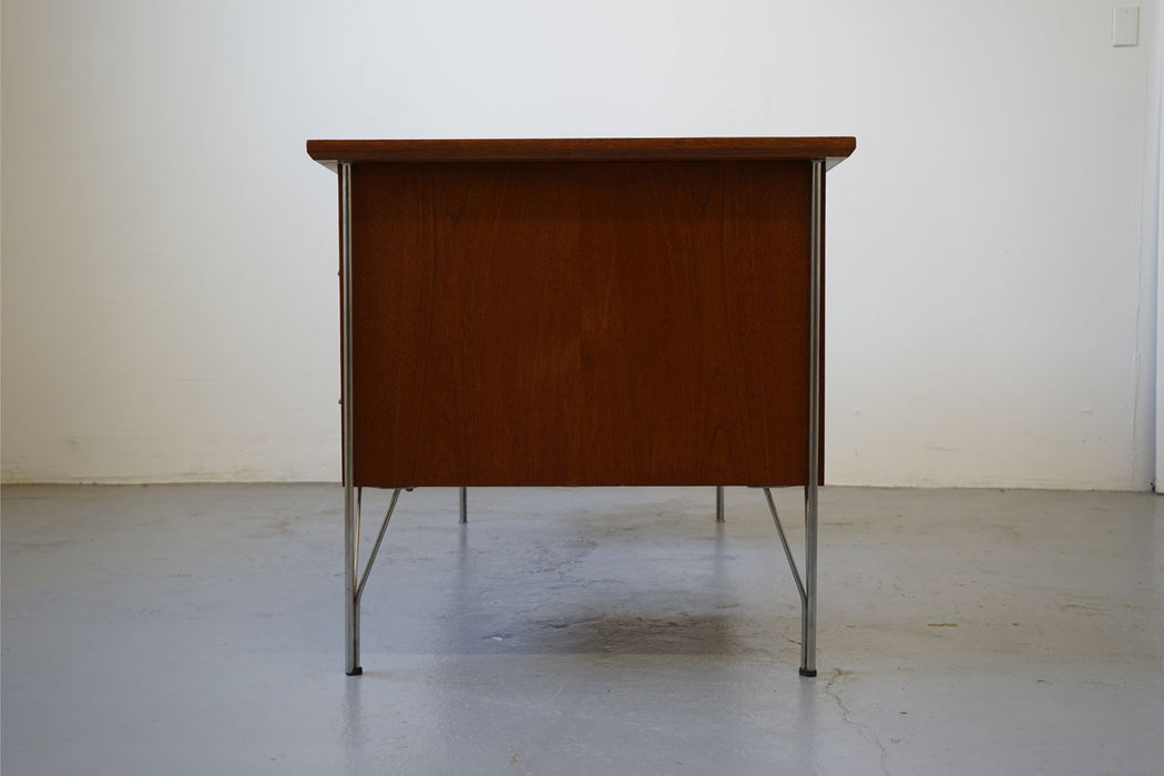 A Scan Modern Desk Made With Teak & Metal - (313-042)