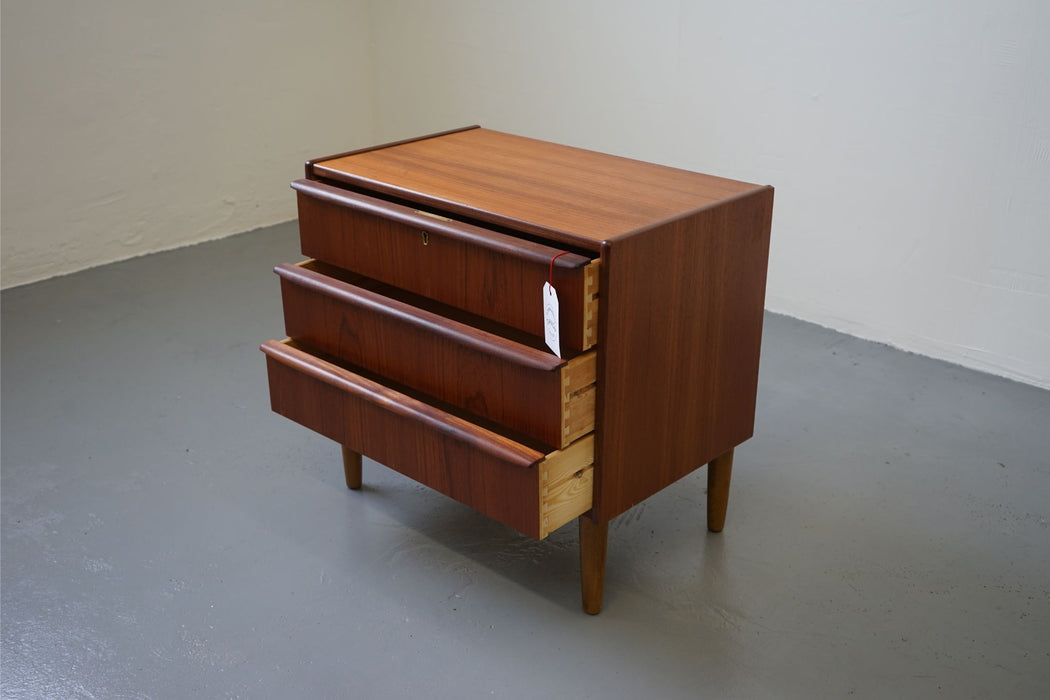 A Danish Bedside Made With Teak - (312-150)