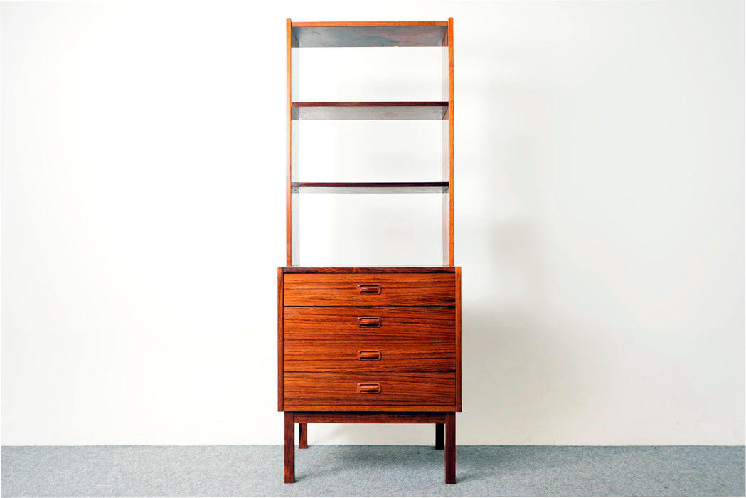 Danish Rosewood Bookcase with Drawers  - (318-144)