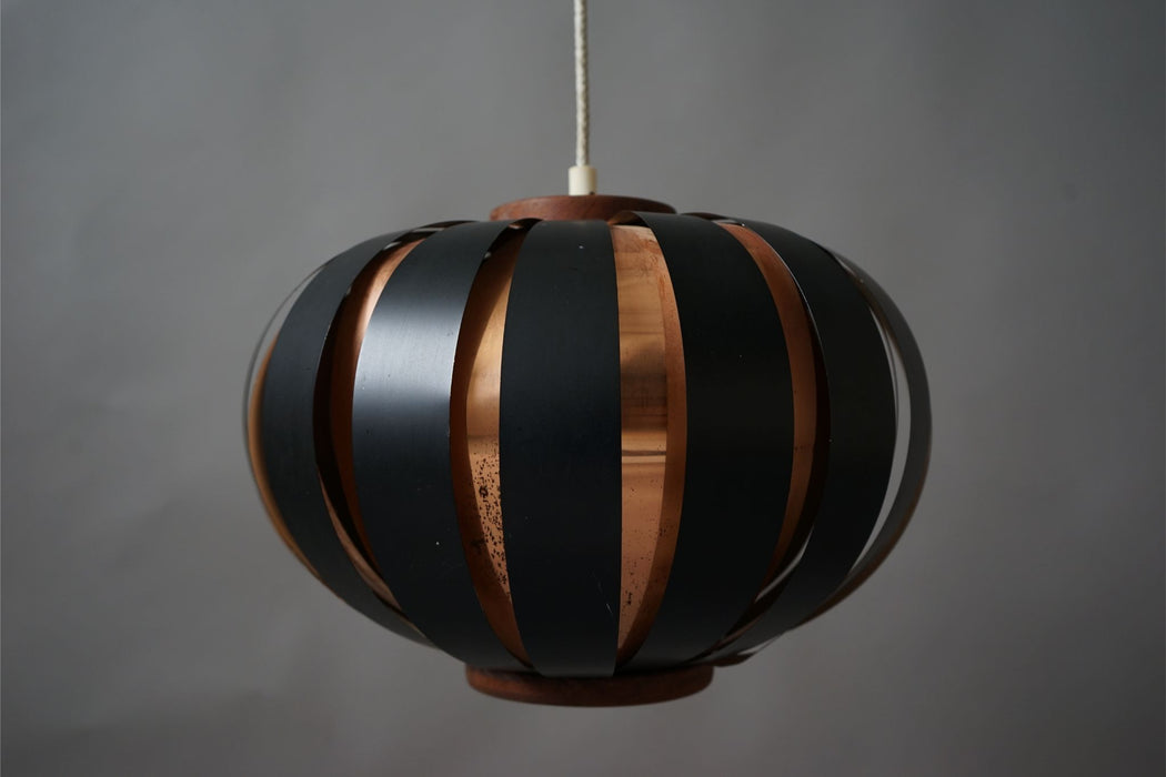 Danish Copper Ceiling Light By Werner Schou For Coronell Elektro - (314-187.1)