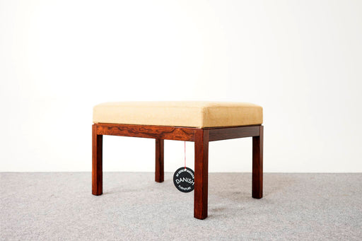 A Danish Footstool Made With Rosewood & Leather - (311-162)