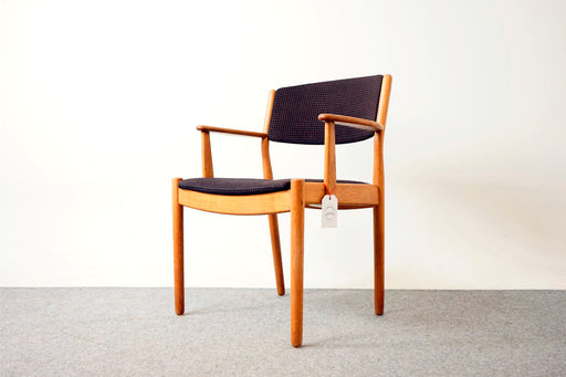 Danish Mid Century Oak Arm Chair By Poul Volther - (317-020.1)