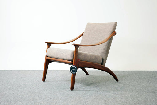 Danish Mid Century Teak Lounge Chair by Arne Hovmand Olsen - (D668)