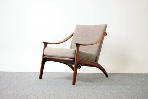 Danish Mid Century Teak Lounge Chair By Arne Hovmand Olsen - (D669)
