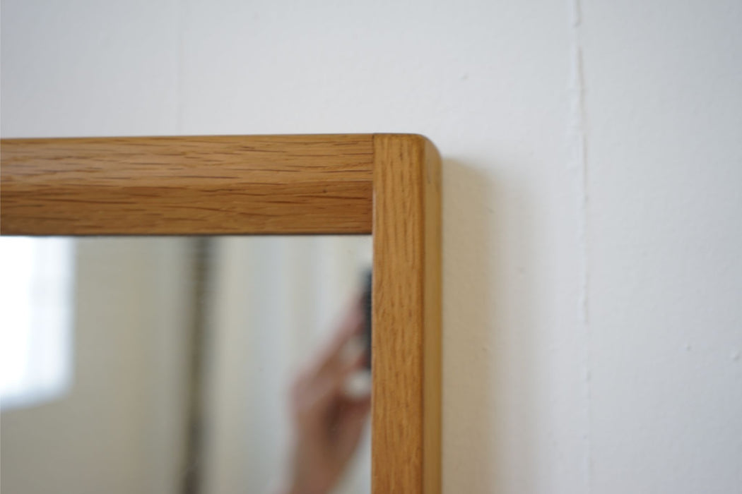 A Danish Mid Century Mirror Made With Oak  - (314-115.2)